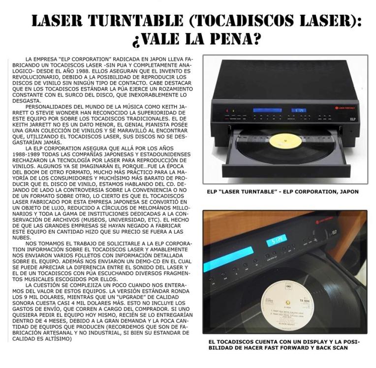 Laser Turntable ELP